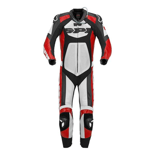 Spidi Tronik Wind Pro Leather Suit - Black/Red/White