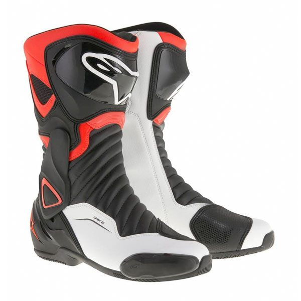 Alpinestars SMX-6 V2 Boots -Black/Red/Fluo/White