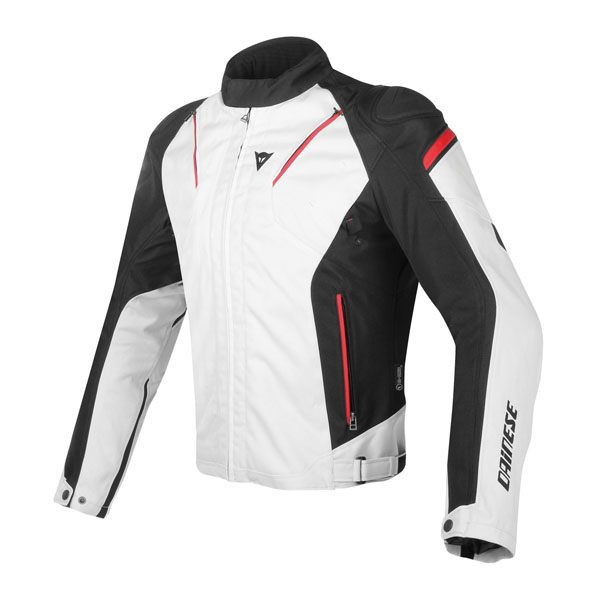 Dainese Stream Line D-Dry Jacket - Grey/Black/Red