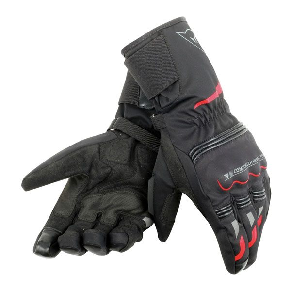 Dainese Tempest D-Dry Long Gloves - Black/Red