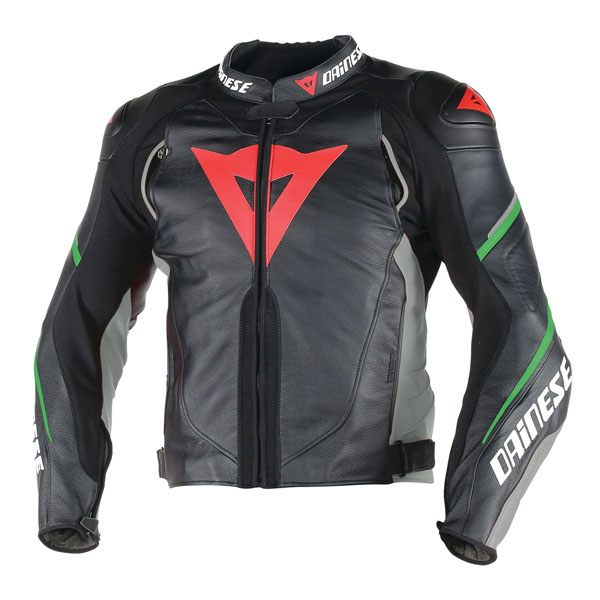 Dainese Super Speed D1 Leather Jacket - Black/Green