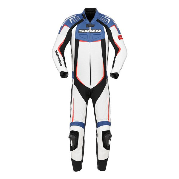 Spidi Track Wind Pro Leather Suit - Black/Blue