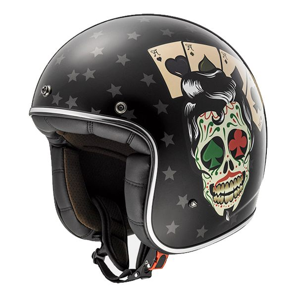 LS2 OF583 Bobber - Tattoo Black