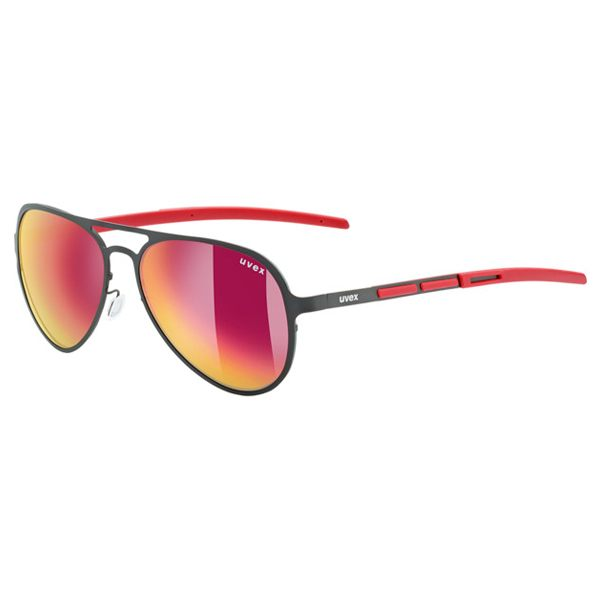 Uvex Sunglasses LGL 30 Pola - Black/Red
