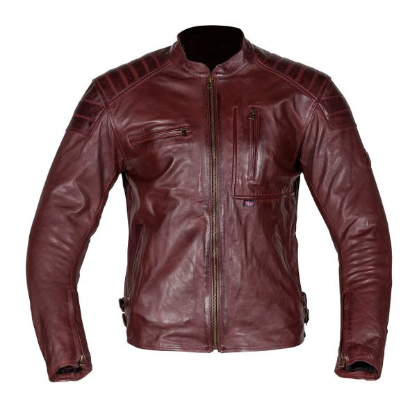 Spada - Redux Leather Jacket - Oxblood - Red