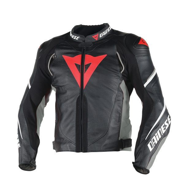Dainese Super Speed D1 Leather Jacket - Black/Anthracite/White