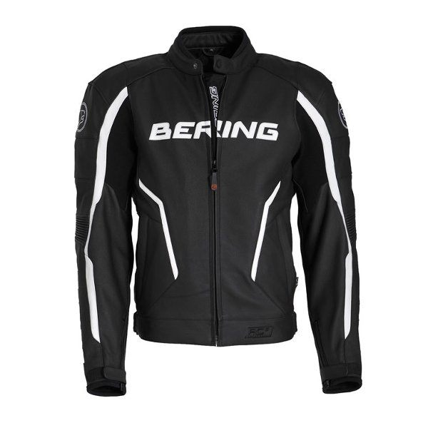 Bering Gear Leather Jacket - Black/White