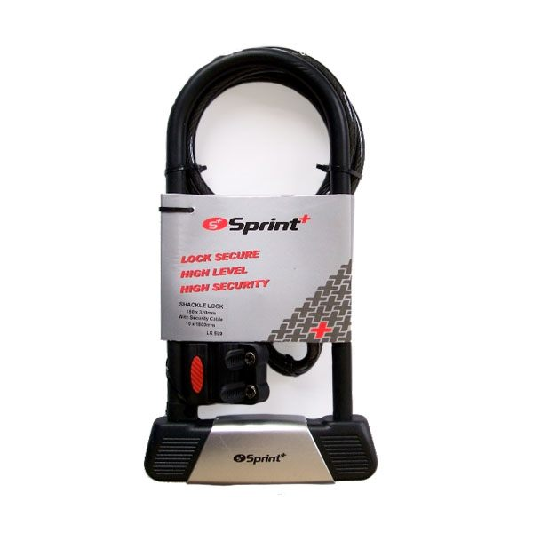 Sprint Shackle lock with Cable
