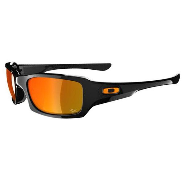 Oakley Fives Squared Sunglasses - Black/Fire Iridium MotoGP