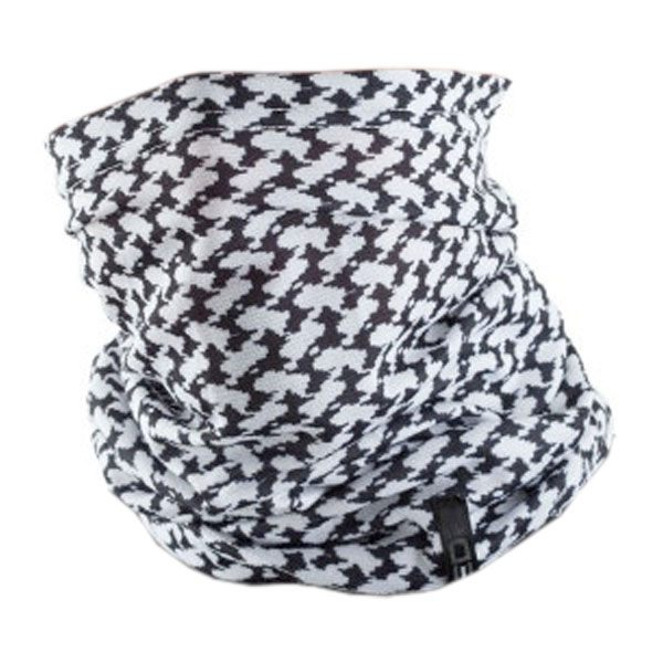 EDZ All Climate Arab Print Multi-tube Neck Warmer - White/Black