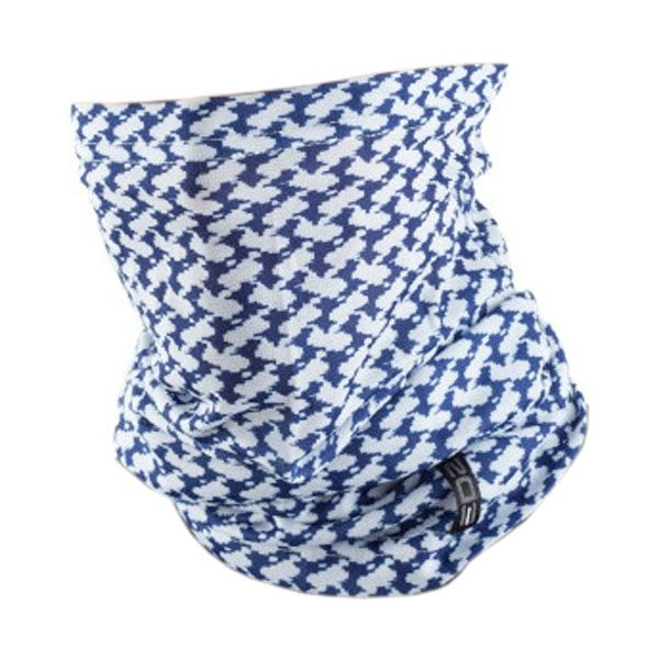 EDZ All Climate Arab Print Multi-tube Neck Warmer - White/Blue