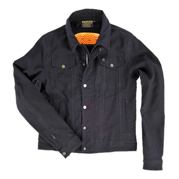 Rokker Denim Jacket Textile - Black