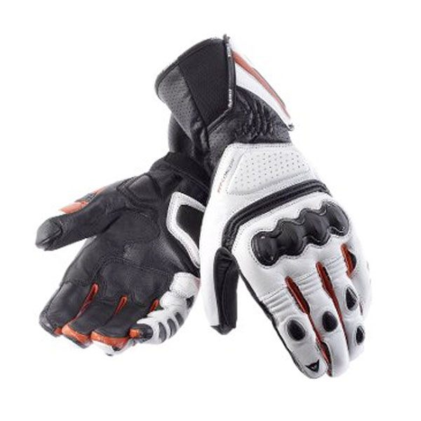 Dainese Pro Carbon Gloves - White/Red