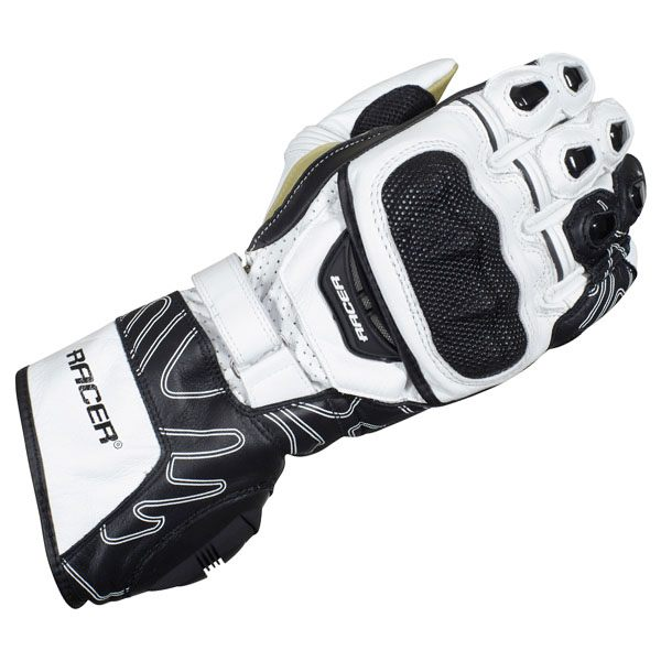 Racer High Speed Gloves - Black/White