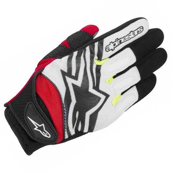 Alpinestars Spartan Gloves - Black/White/Fluo Yellow/Red