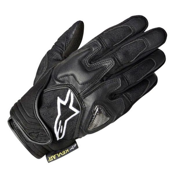 Alpinestars Scheme Kevlar Gloves - Black with White Logo