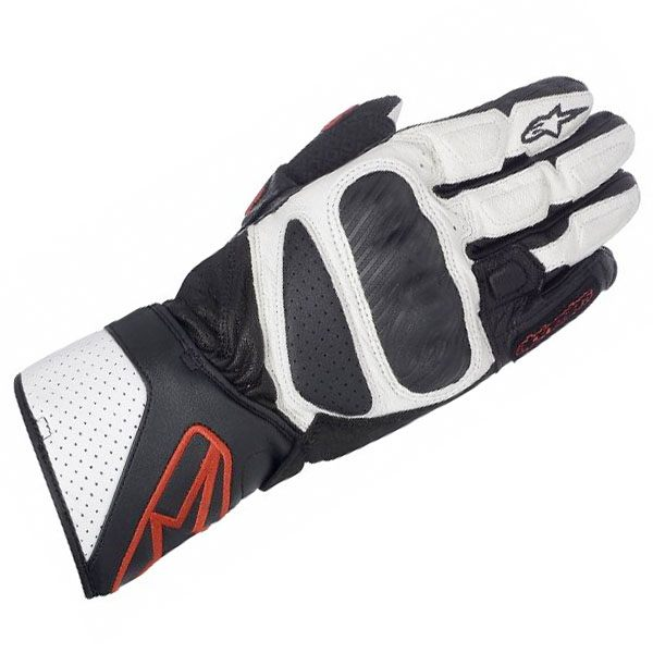 Alpinestars SP-8 Ladies Leather Gloves - Black/White/Red