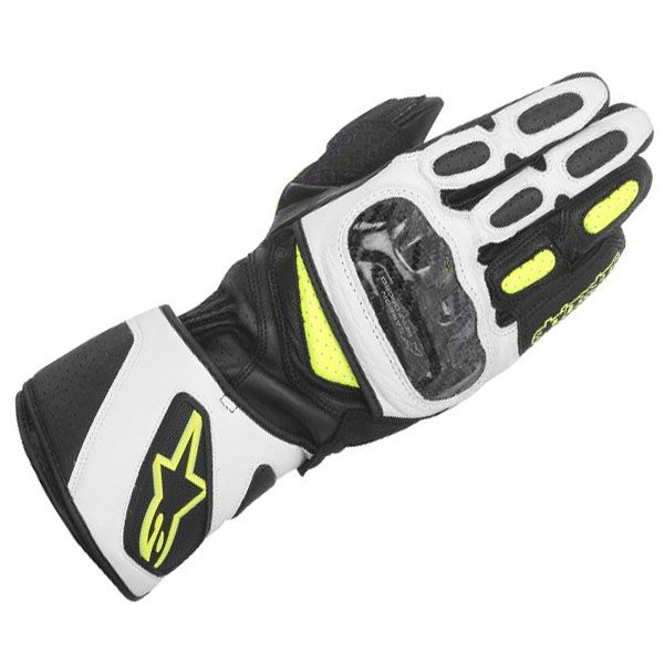 Alpinestars SP-2 Gloves - Black/White/Fluo Yellow