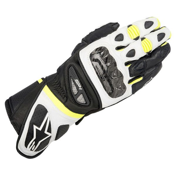 Alpinestars SP1 Gloves - Black/White/Fluo Yellow