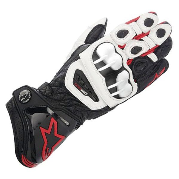 Alpinestars GP Pro 113 Leather Gloves - Black/White/Red