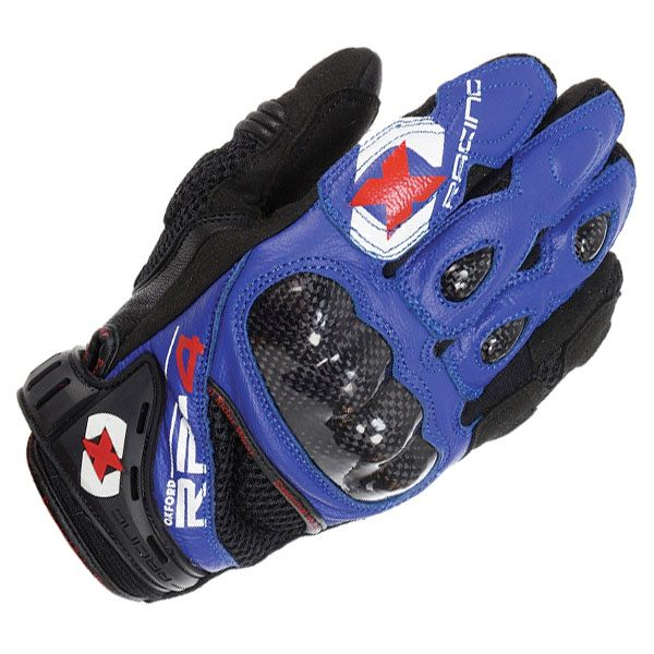 Oxford RP-4 Short Gloves - Blue/Black
