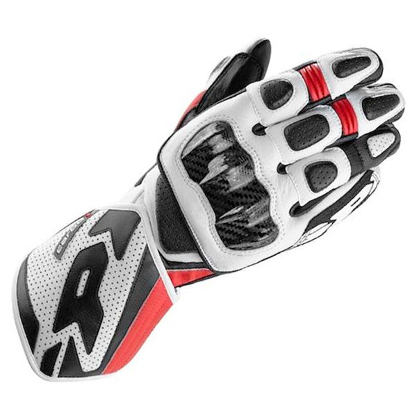 Spidi Carbo 1 Leather Gloves - Black/Red