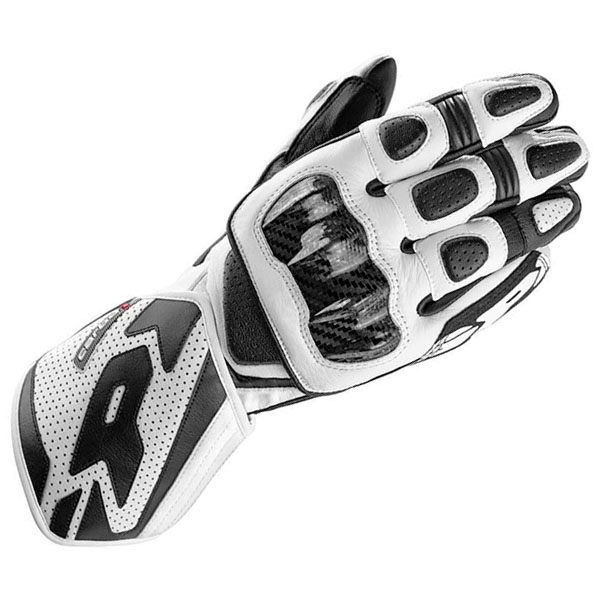 Spidi Carbo 1 Leather Gloves - Black/White