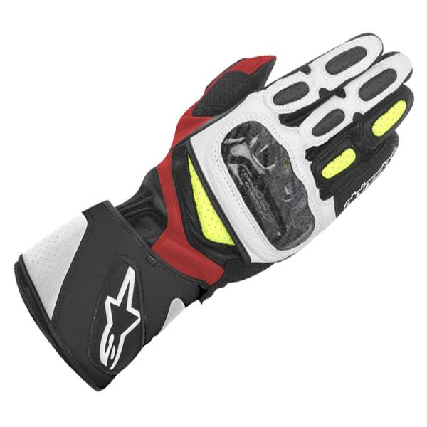 Alpinestars SP-2 Gloves - Black/White/Yellow/Red