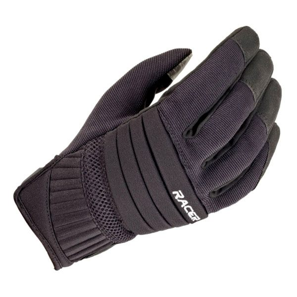 Racer Short Phone Gloves - Black