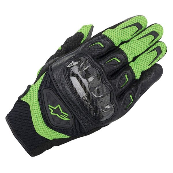 Alpinestars SMX-2 Air Carbon Gloves - Green/Black