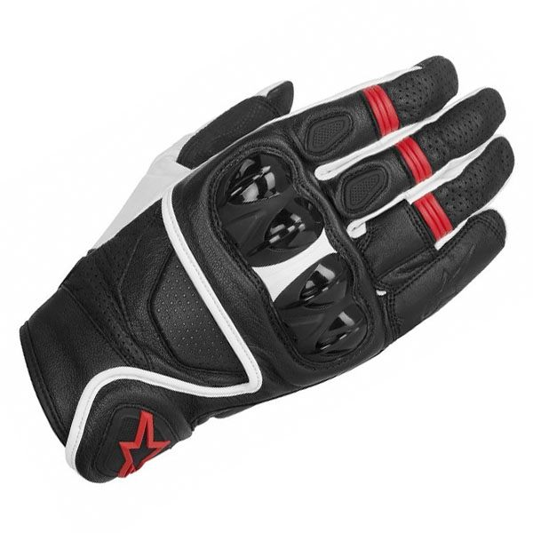 Alpinestars Celer Leather Gloves - Black/White/Red