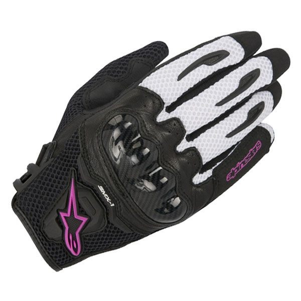 Alpinestars SMX-1 Air - Ladies Gloves Black/White/Fuchsia