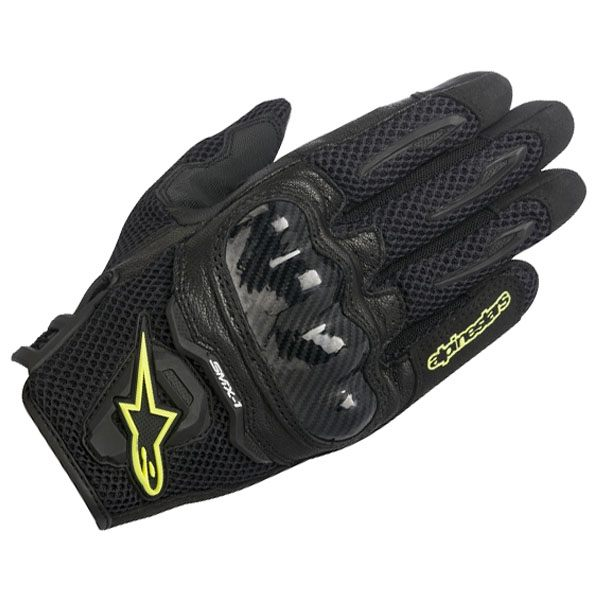 Alpinestars SMX-1 Air Gloves -Black/Fluo Yellow