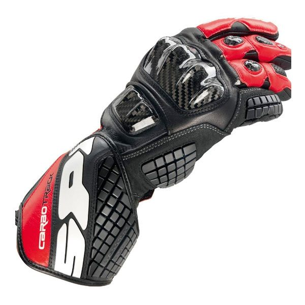 Spidi Carbo Track Leather Gloves - Black/Red