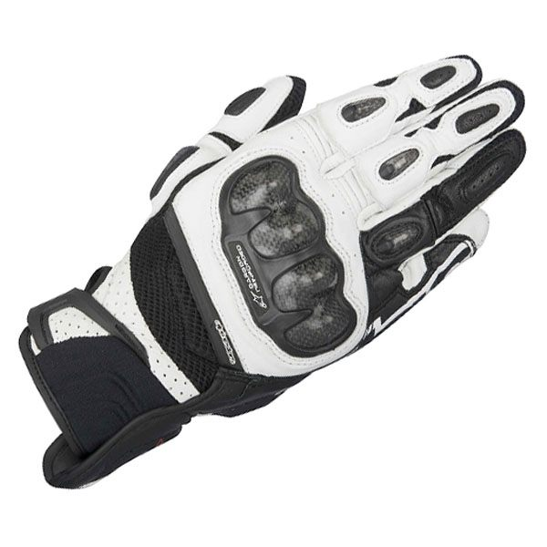 Alpinestars SP-X Air Carbon Leather Gloves Black/White