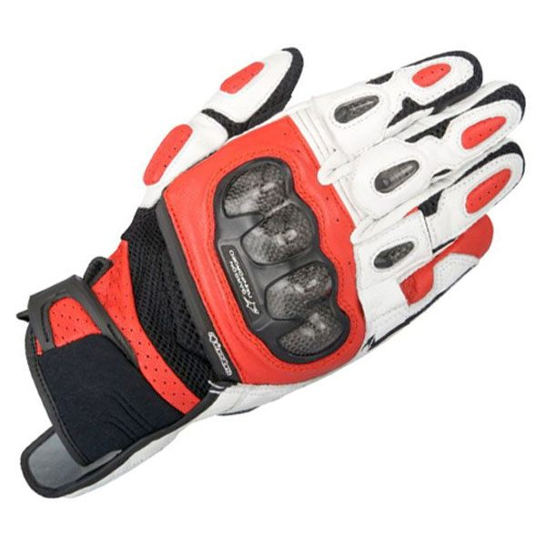 Alpinestars SP-X Air Carbon Leather Gloves - Black/White/Red