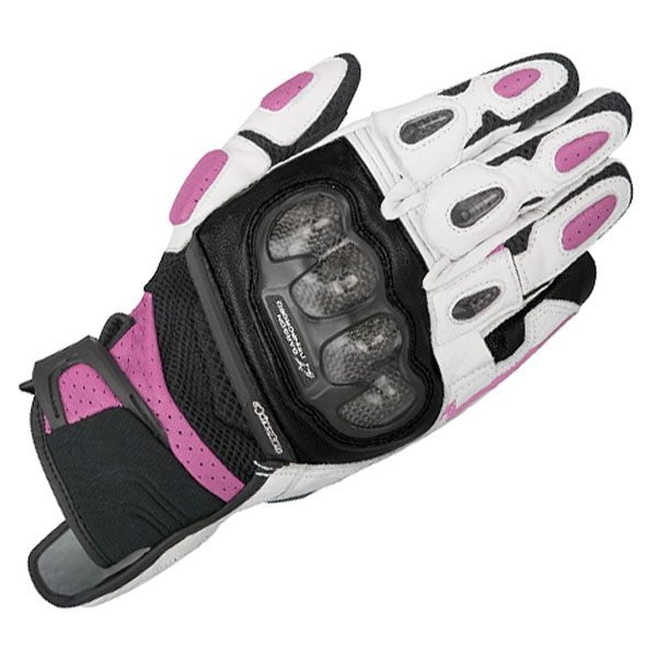 Alpinestars SP-X Air Carbon Ladies Leather Gloves - Fuschia